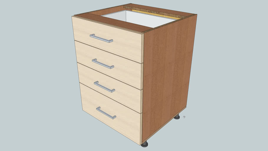 Placed Cabinet with drawers