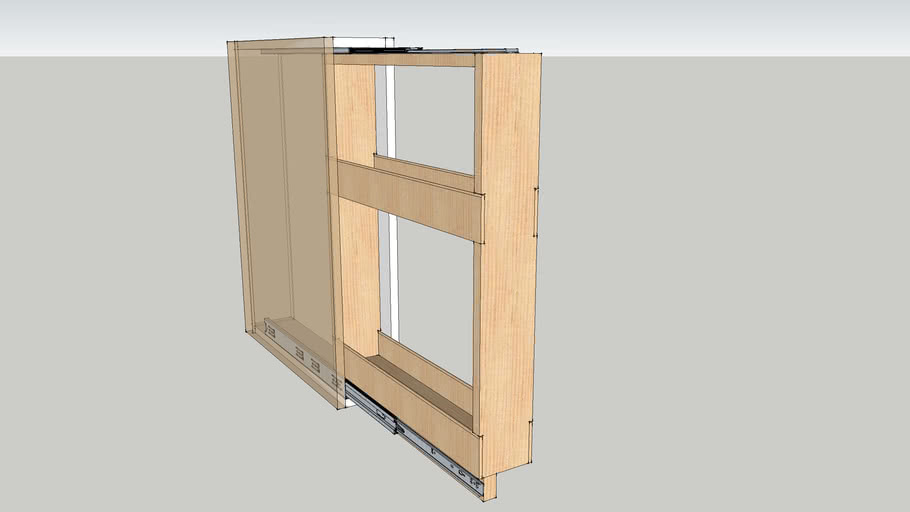 Spice shelf pullout for base cabinet
