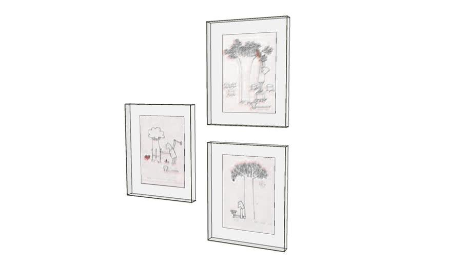 Serigrafias by Monica Sartori em molduras de acrílico