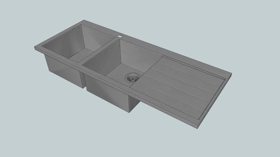ST340D - Stratus - Double Bowl - Kitchen Sink - Abey