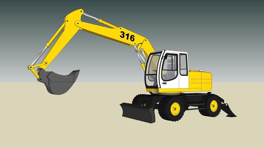 SketchyPhysics Excavator / Digger (J-m@n's model!!)
