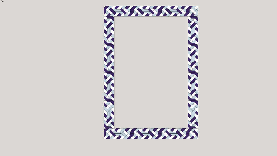 Zellige Tessellations  Decorative Quran, or window frame.