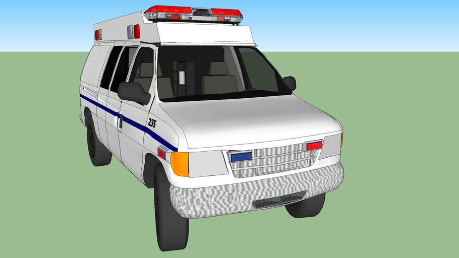ambulance type ll ford f350 model 1994  diesel