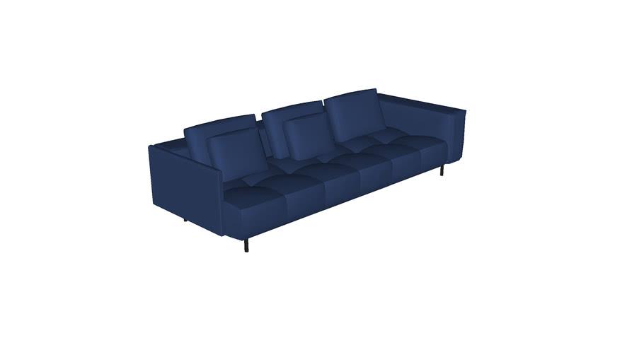 Sofa Pausa mod canto extend 2,70x0,82x1,10m 1BR