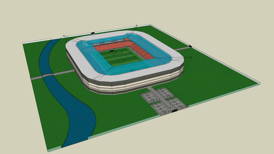 Big Modern Stadium