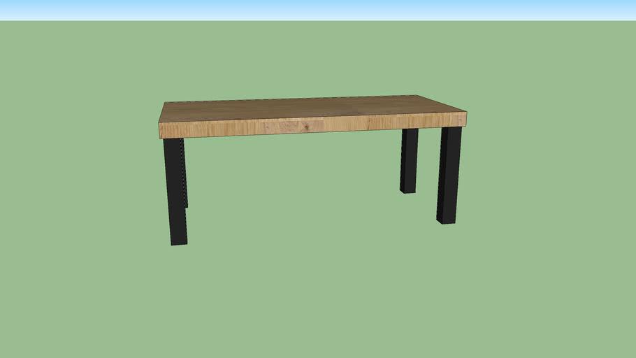 Table Oak with Darkgrey-iron legs