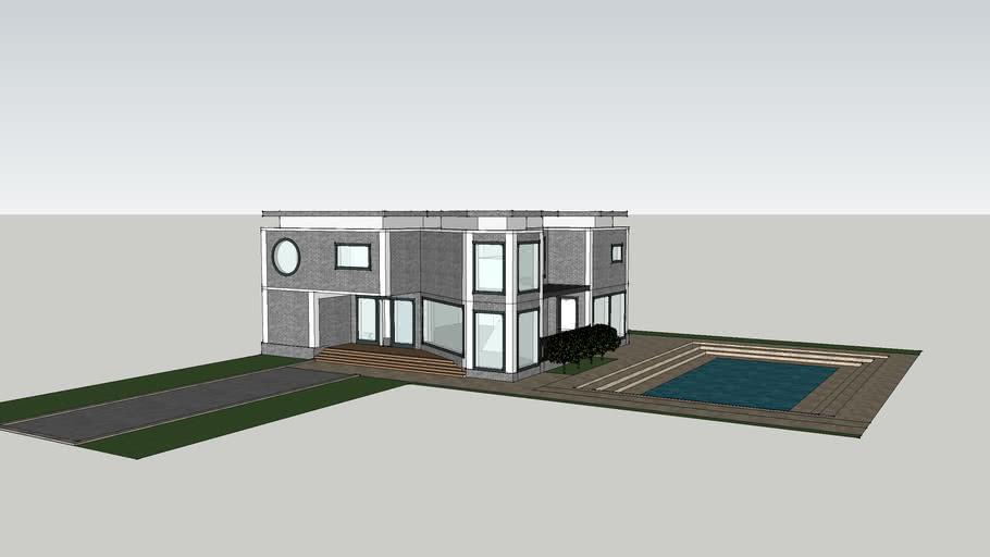 Brick modern house!