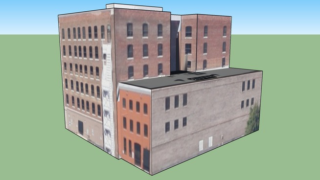 Brick Building in Jacksonville, FL, USA