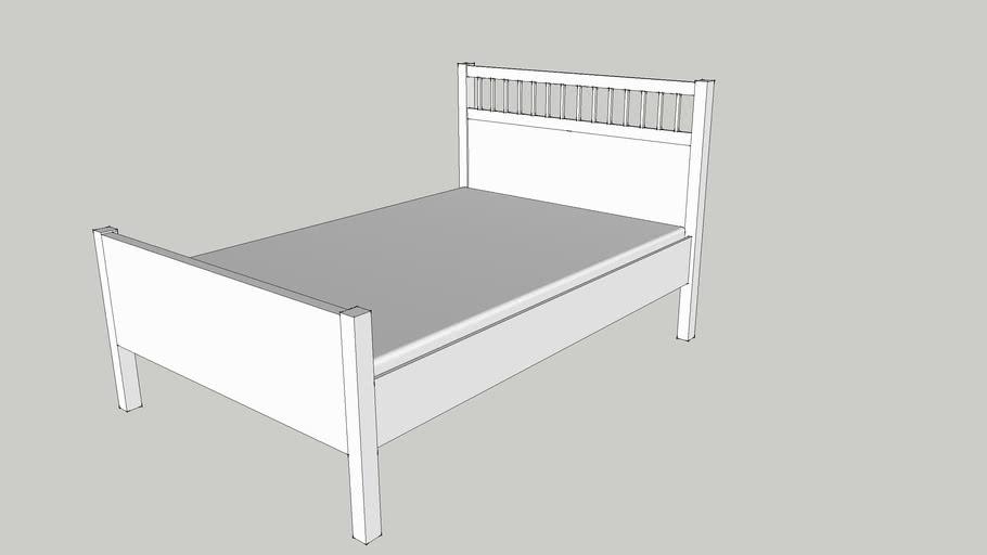 Ikea Hemnes Bedbank.Ikea Hemnes Bed Frame White 3d Warehouse