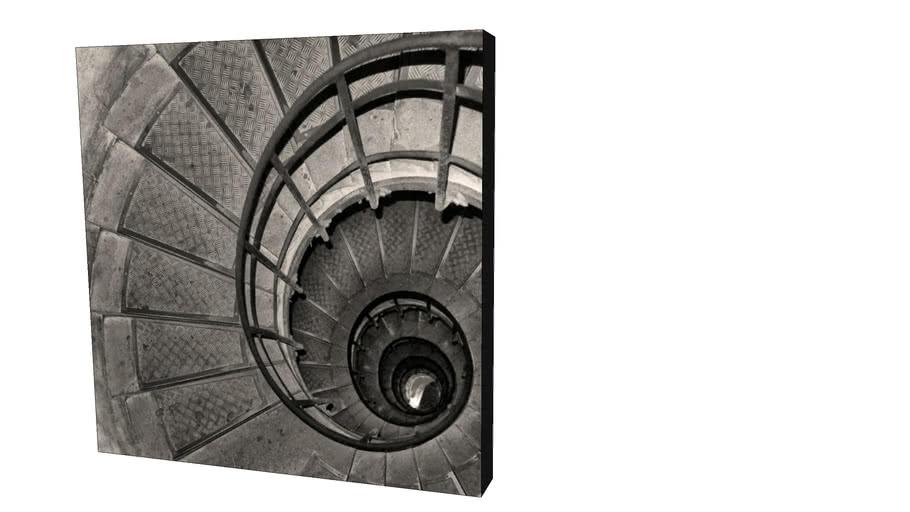 Quadro Dorival Moreira - Coleção Paris: Escadaria - Arco do Triunfo