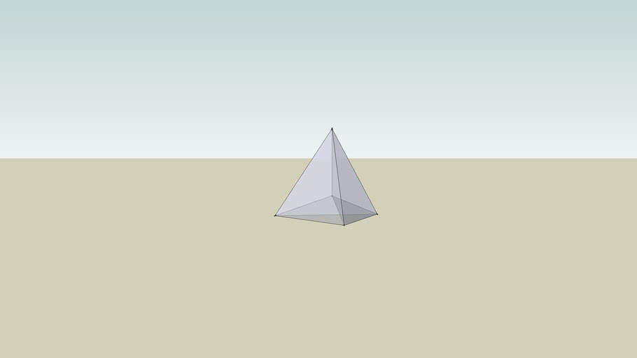 4-D Triangular-Base Hyperpyramid (view from top)