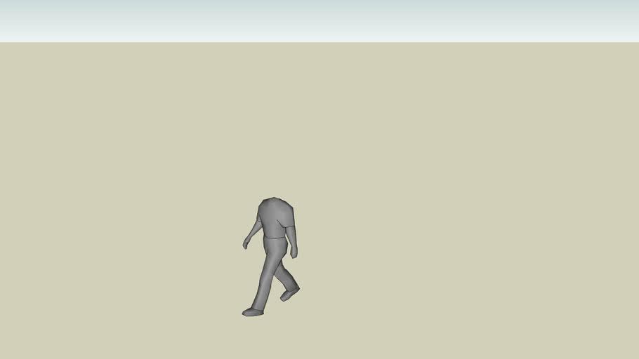 headless person