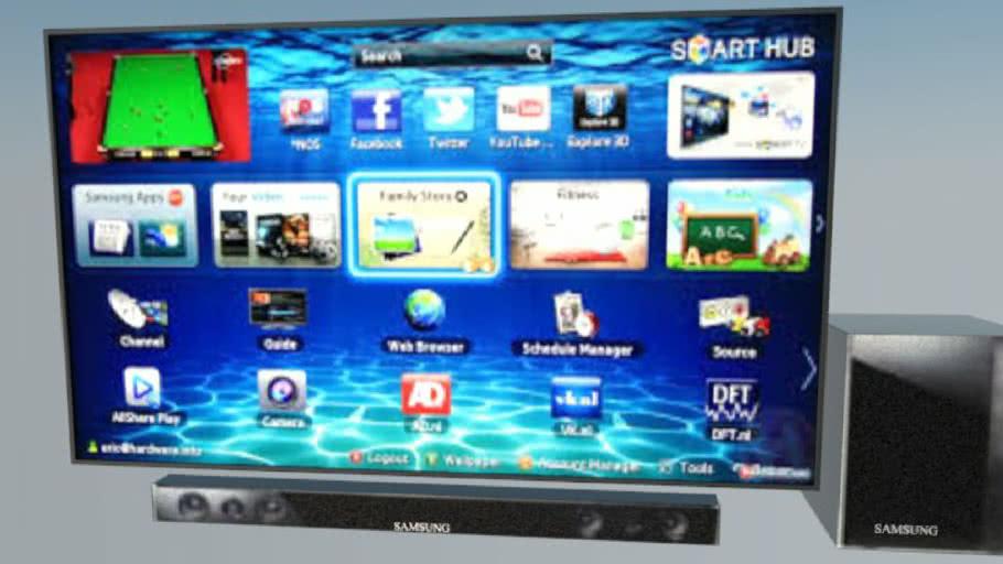 SAMSUNG 60 INCHES SMART TV with SOUNDBAR   3D Warehouse