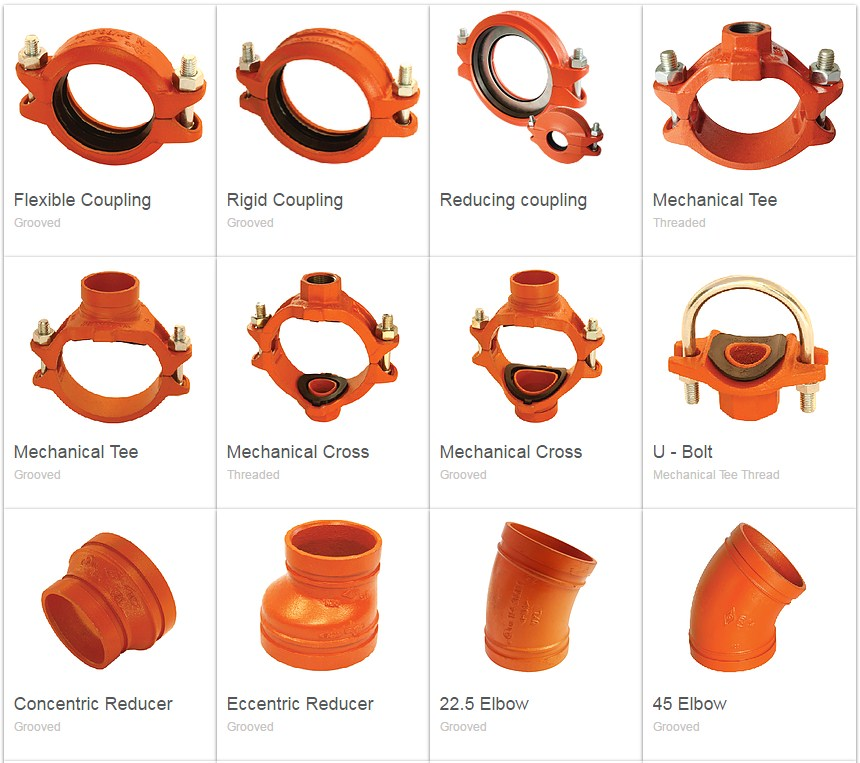 MECH Grooved Coupling Fittings