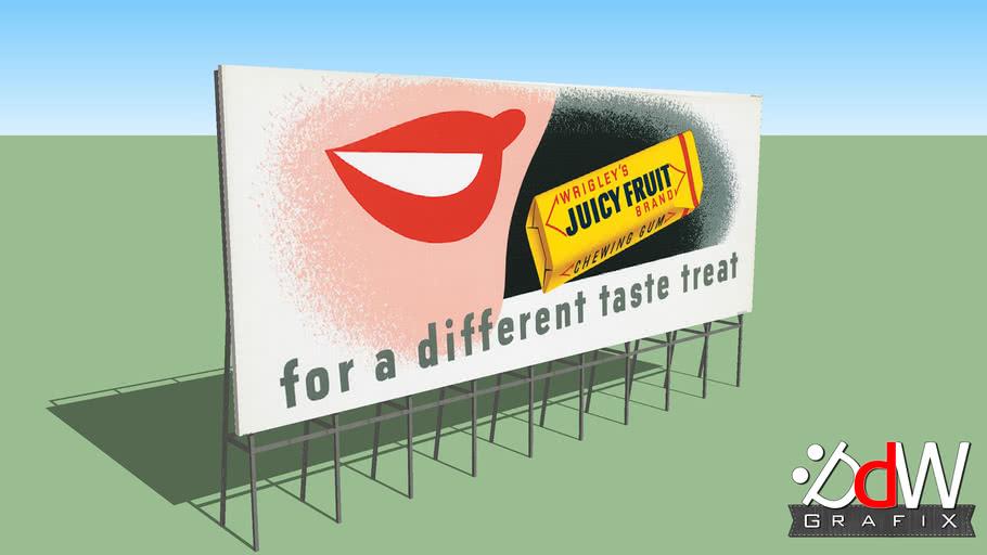 Old Wrigley's Juicy Fruit Billboard.