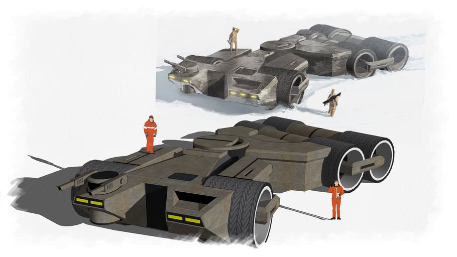 Mass effect concept vehicle