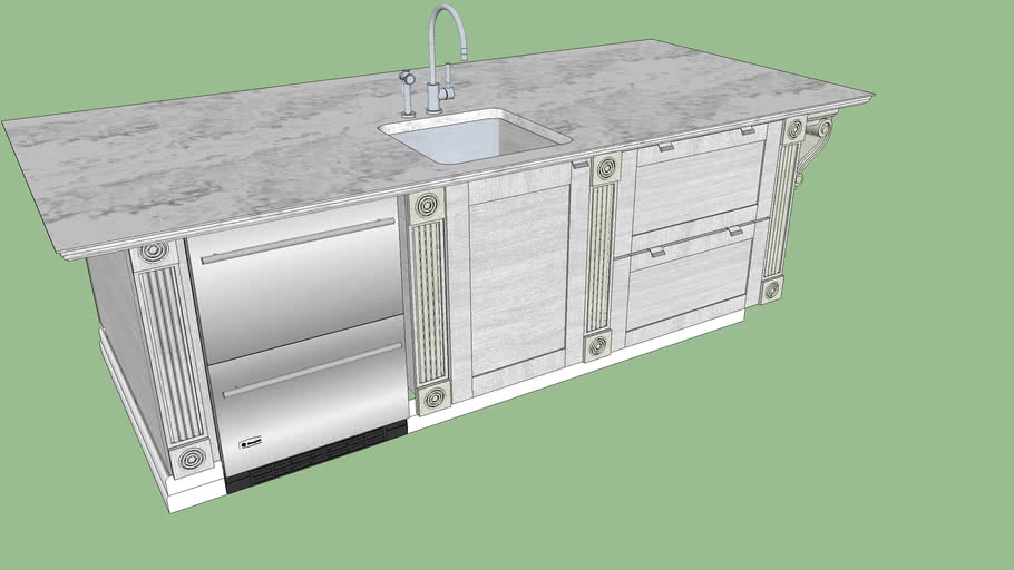 Kitchen Island 3d Warehouse