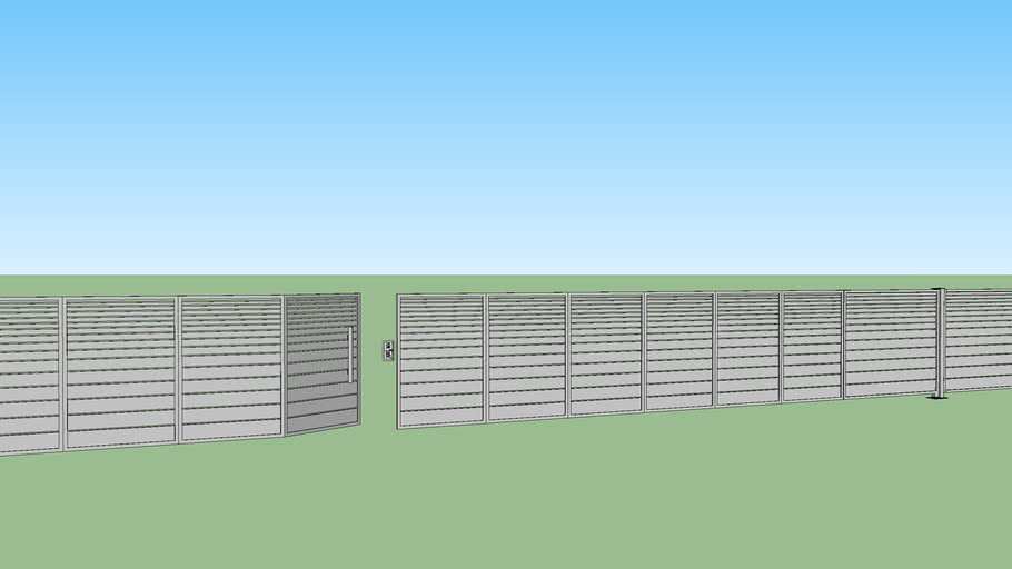 A tiered modern fence