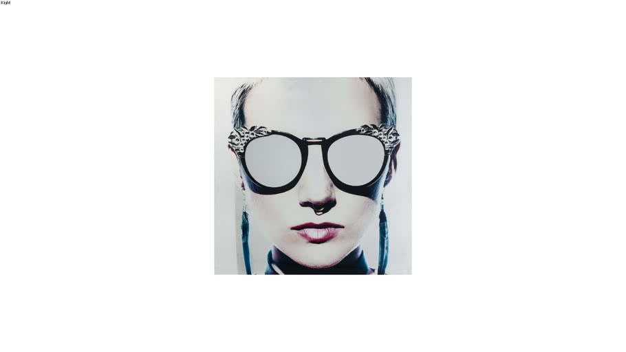 65141 Picture Glass Metallic Girlie 120x120cm