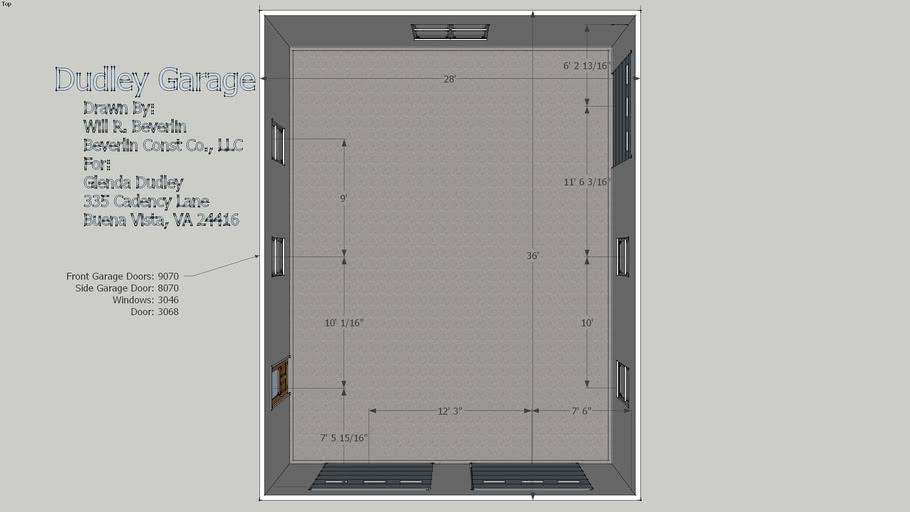 3 Door Garage on 2 Sides