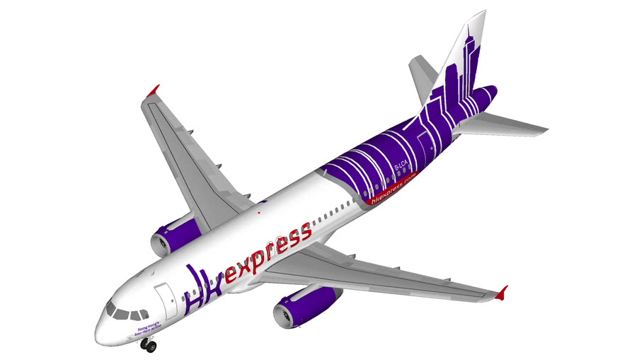 HK Express Airbus A320 winglets