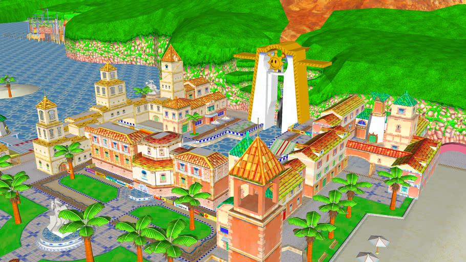 Delfino Plaza v4 ~ Mario Kart Wii Custom Track