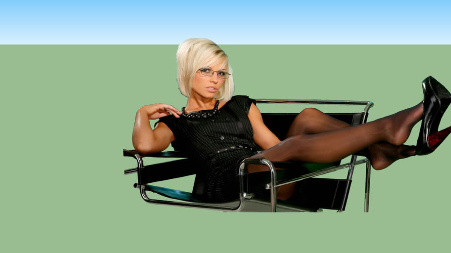 girl relaxing in an office