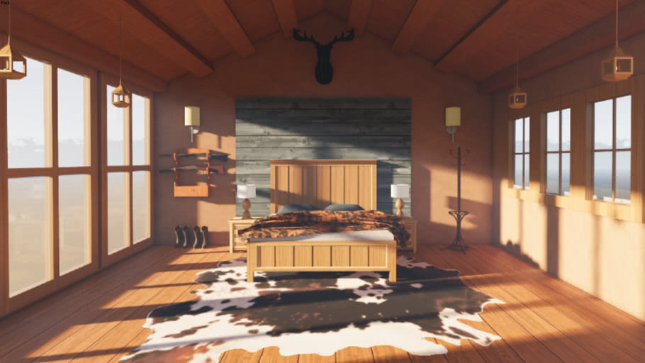 Western Style Bedroom 3d Warehouse