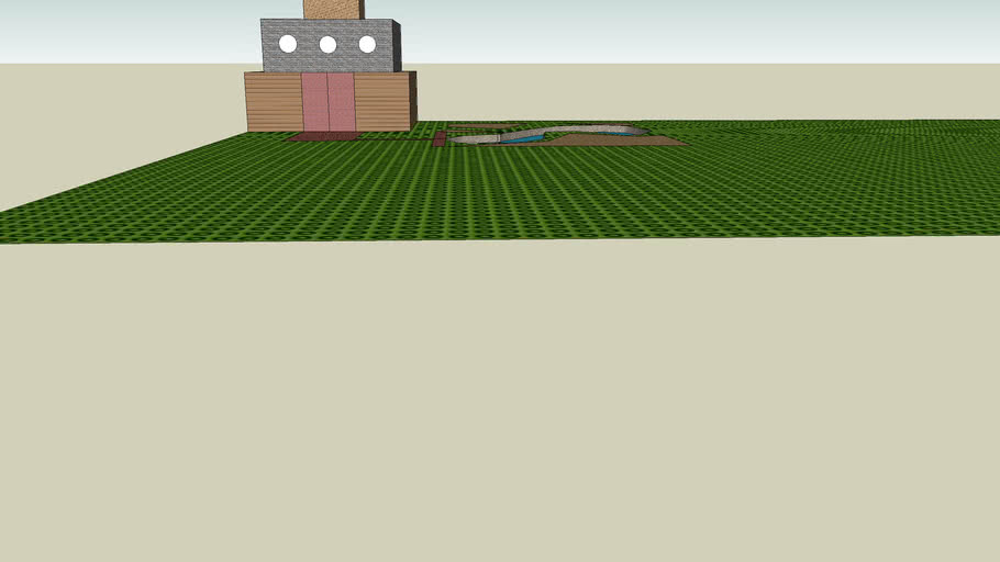 maison jardin piscine
