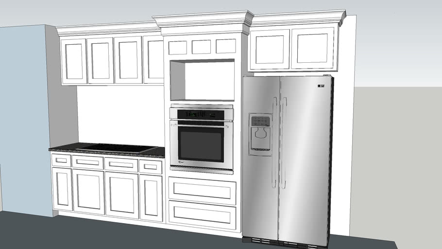 Kitchen cabinets with built in oven