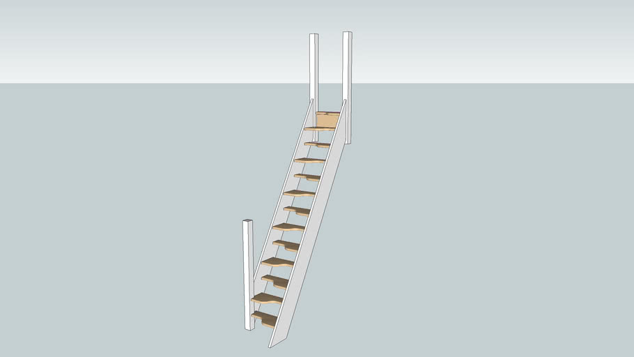 Space Saver Staircase, With all joinery modeled