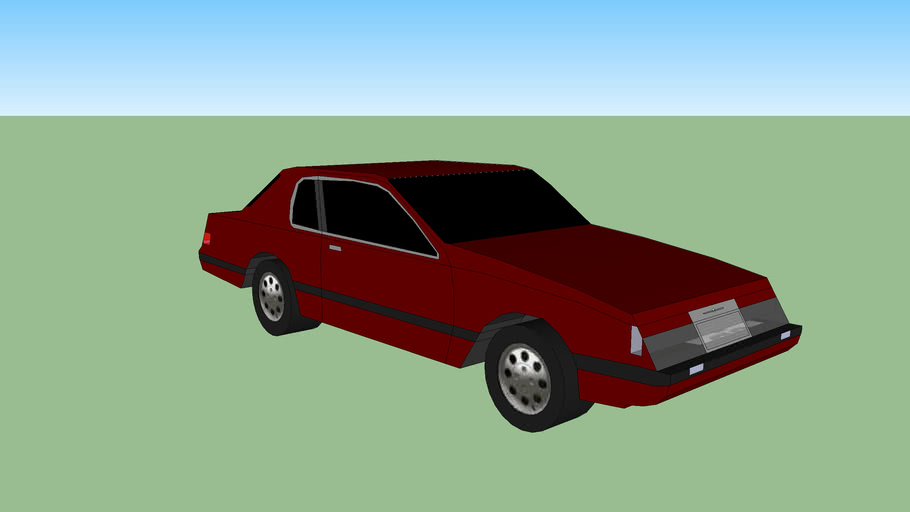 ford thunderbird mk9 1983 1:64 printable