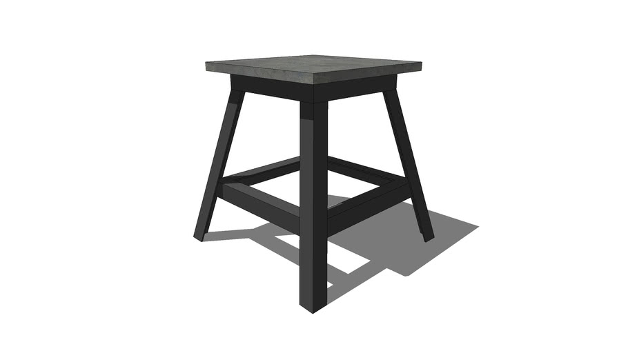 HCD – 18x18x22 Craftsman Square Side Table w/L-Angle Steel Legs
