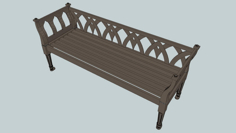 Augustine 6' Bench with Back
