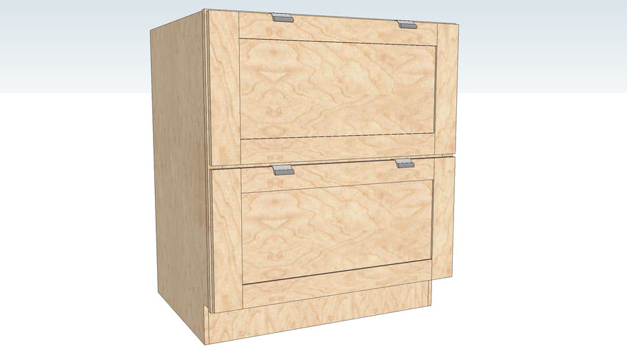 Base Pots and Pans Storage Two Drawer DRPD
