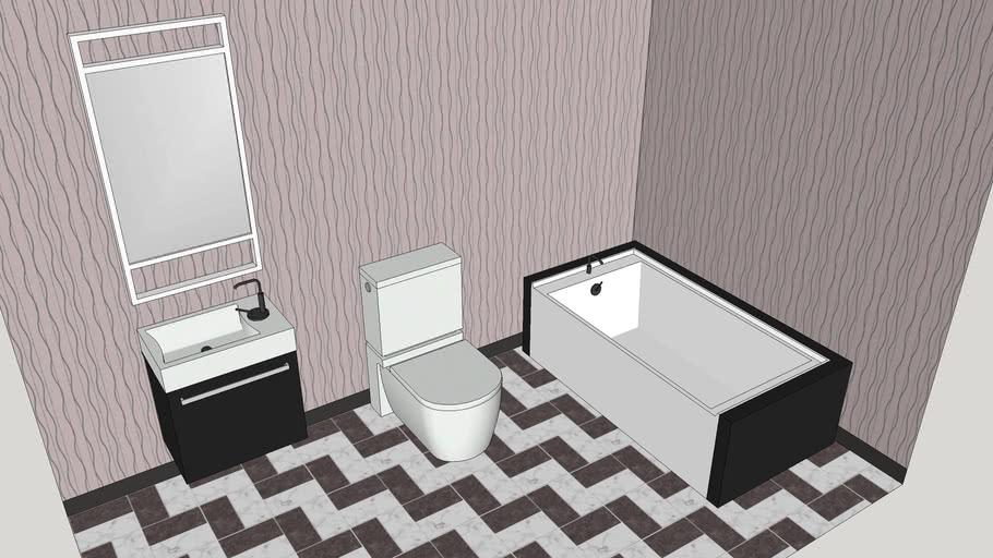 Modern Bathroom Fixtures Tub Sink Toilet 3d Warehouse