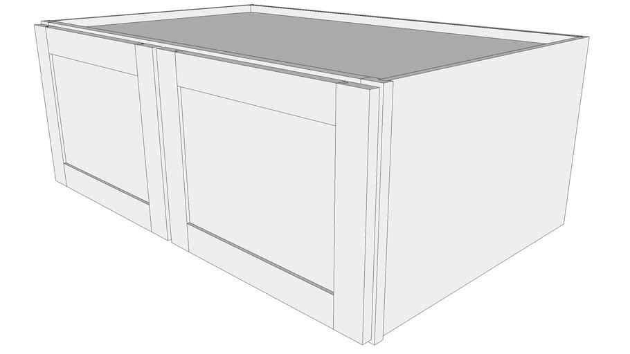 "Bayside Wall Cabinet 24W3915 - 24"" Deep, Two Doors"