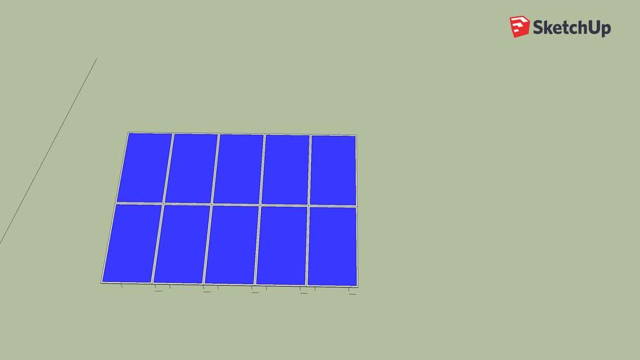 Copy of Solar Panel Ground Mount 20 Degree Tilt