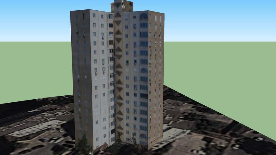 Les tours (Cité des 256 logements) Tour 3, Alger Garidi