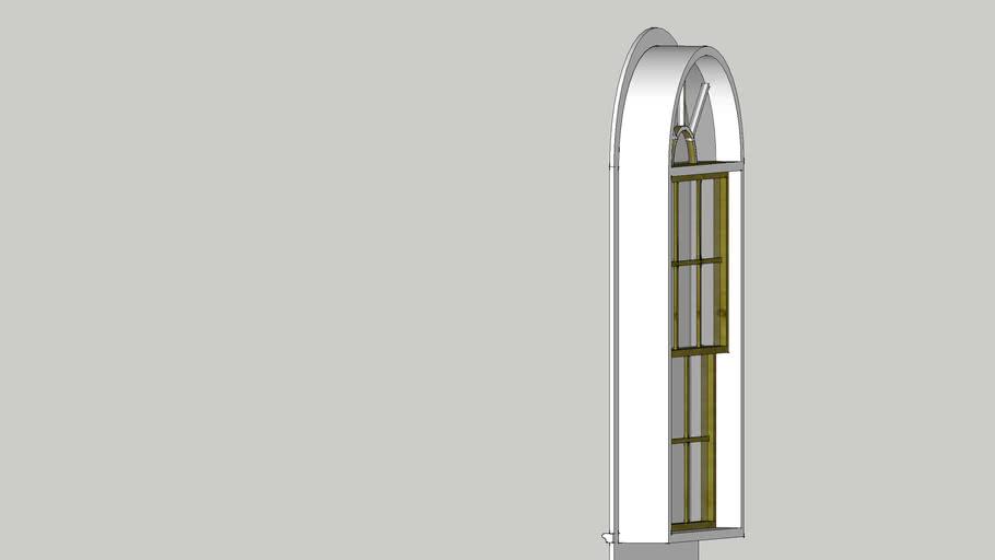 4'x7' arch window