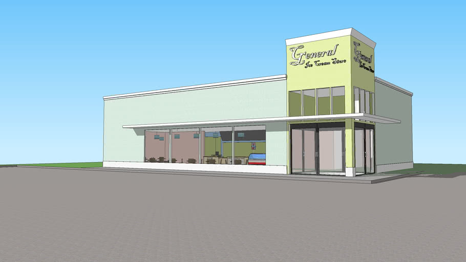 General Ice Cream Store- Furnished and Remodeled