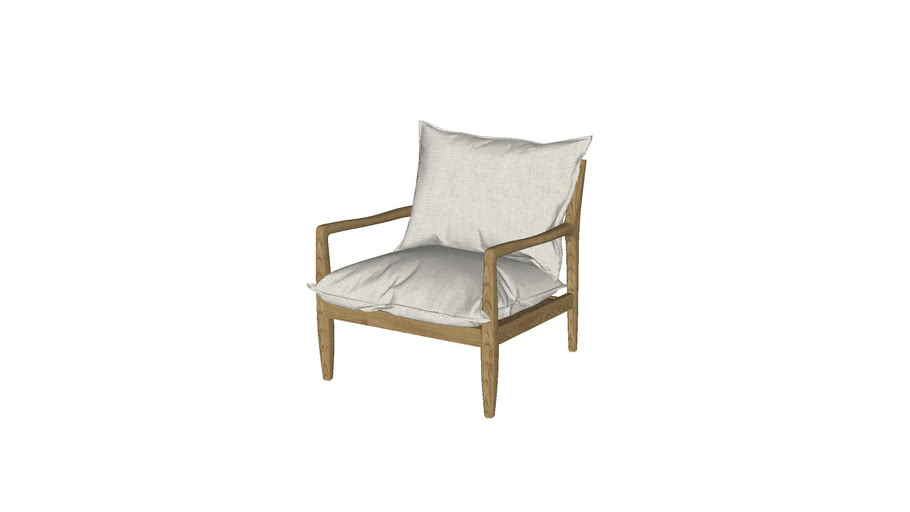 Fauteuil toile lin, Dilma