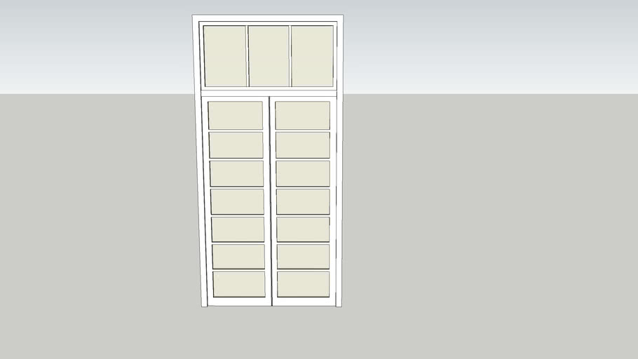porta de abrir com vidro