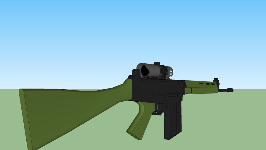 FN FAL With Low Zoom Sight