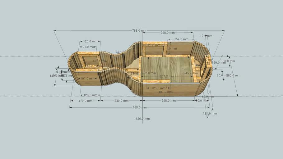 viola wooden case