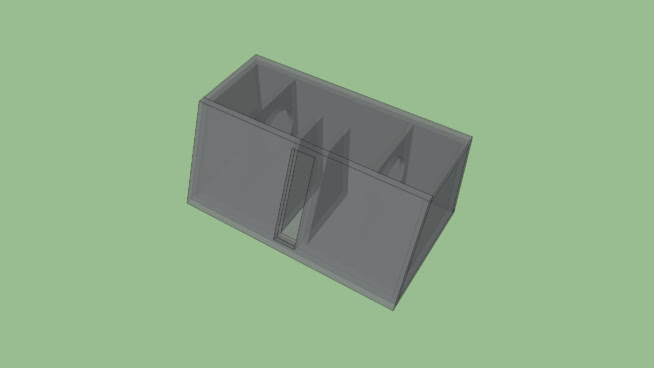 """4th order trapezoid box for 2 6.5"""" subs"""
