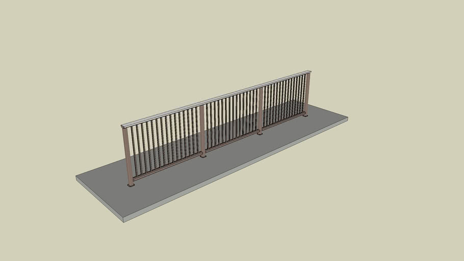 05 DesignRail® Aluminum Railing System with Picket Infill