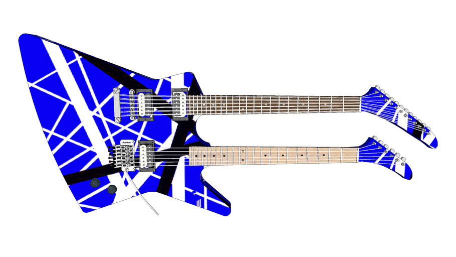 EVH Gibson Explorer Doubleneck 6, 12