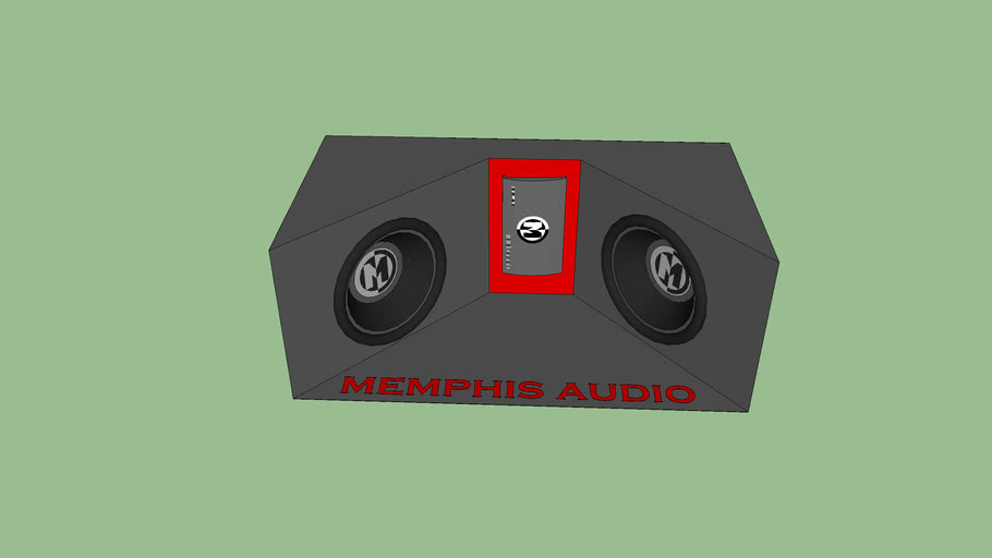 memphis audio custom subwoofer box