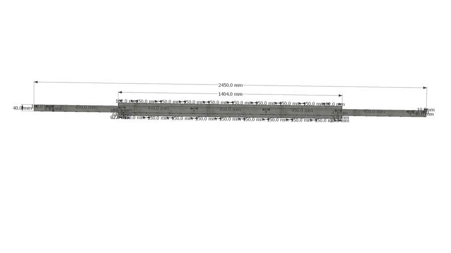 Konstruktionselement für Schiebesystem inkl. Abmessungen